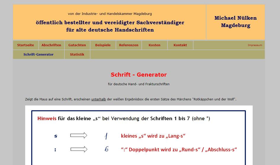 schriften generator